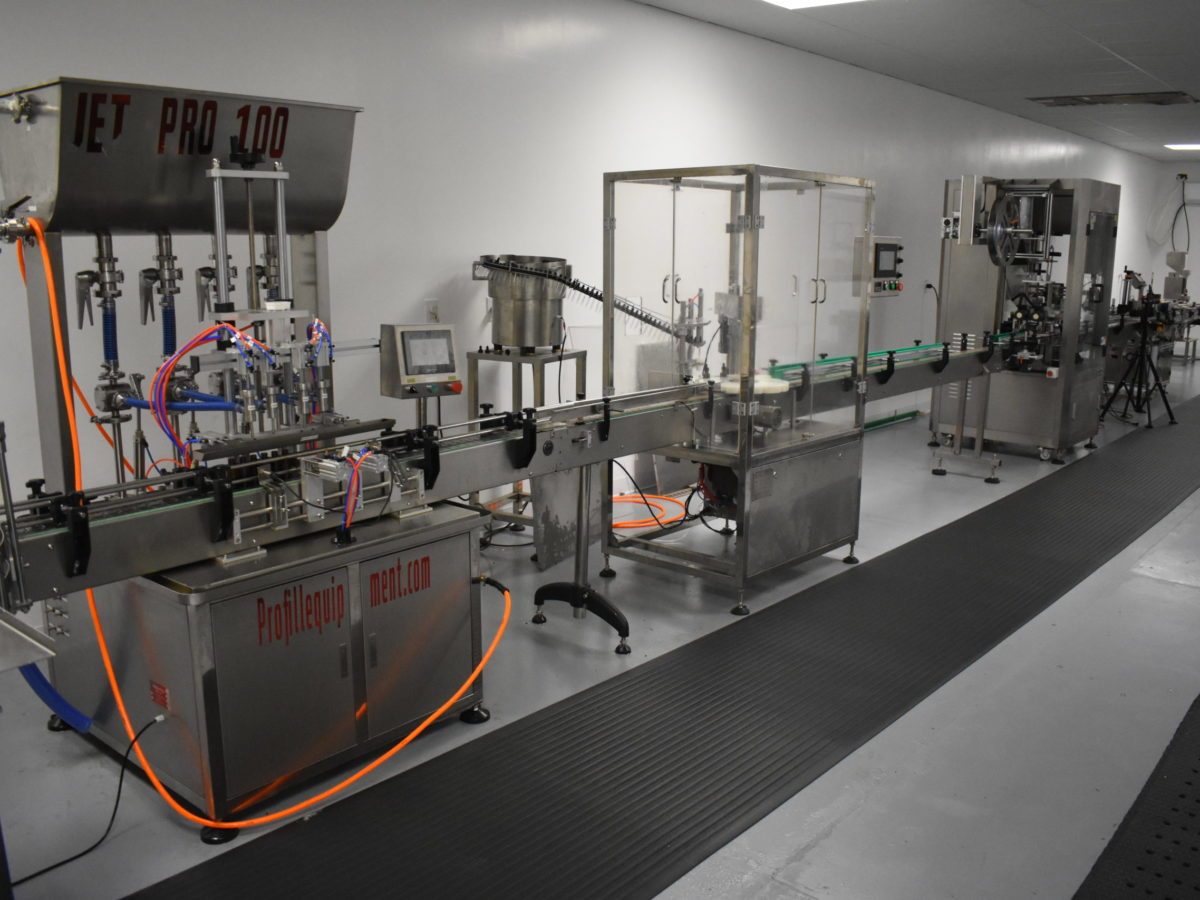 CBD Oil Bottling Line